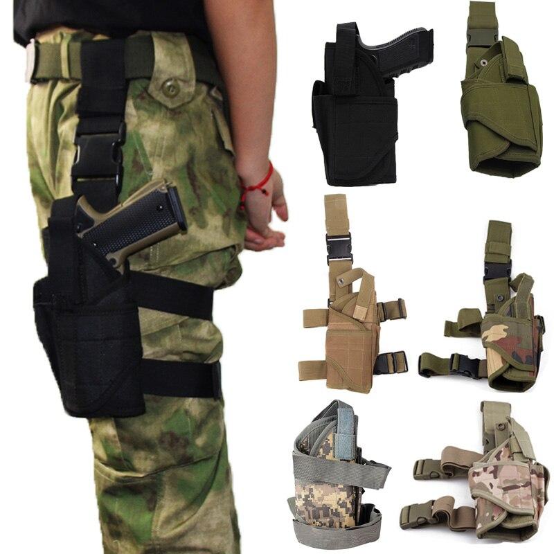 Coldre para Glock Case de Arma de Náilon Tático Esquerda Direita Perna Arma 17 19 Beretta Universal Airsoft Pistola Coldre Ajustável