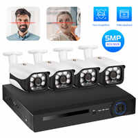 Fuers Face Record H.265 8CH POE NVR Kit 5MP POE Outdoor Camera CCTV Video Surveillance Set Home Security Camera System App View