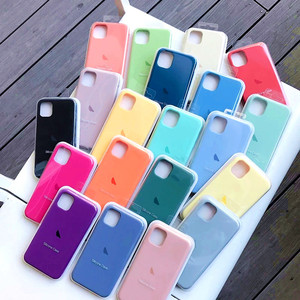 Official Silicone LOGO Case For Apple iPhone 12 Pro SE 2020 For iPhone 11 Pro XS XR X XS Max 7 8 6s 6 plus Full Phone Cover Case