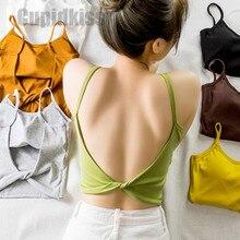2019 ใหม่เซ็กซี่ camisole หญิง bottoming กีฬาเสื้อกั๊กห่อด้านบนหญิงสลิงชุดชั้นใน