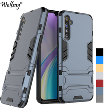 For Cover Oppo Realme X2 Case Shockproof Hybrid Stand Silicone Armor B