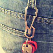 Buckle Carabiner Keychain Backpack Hook Clip Survial Climb Outdoor-Climbing Aluminium-Alloy