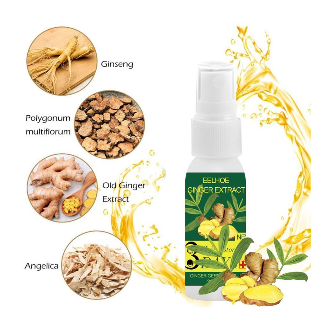 30ml Natural Ginger Extract Hair Growth Essential Oil Loss Hair Liquid Products Care Leave-in Treatments Hair Scalp Hair X0M9