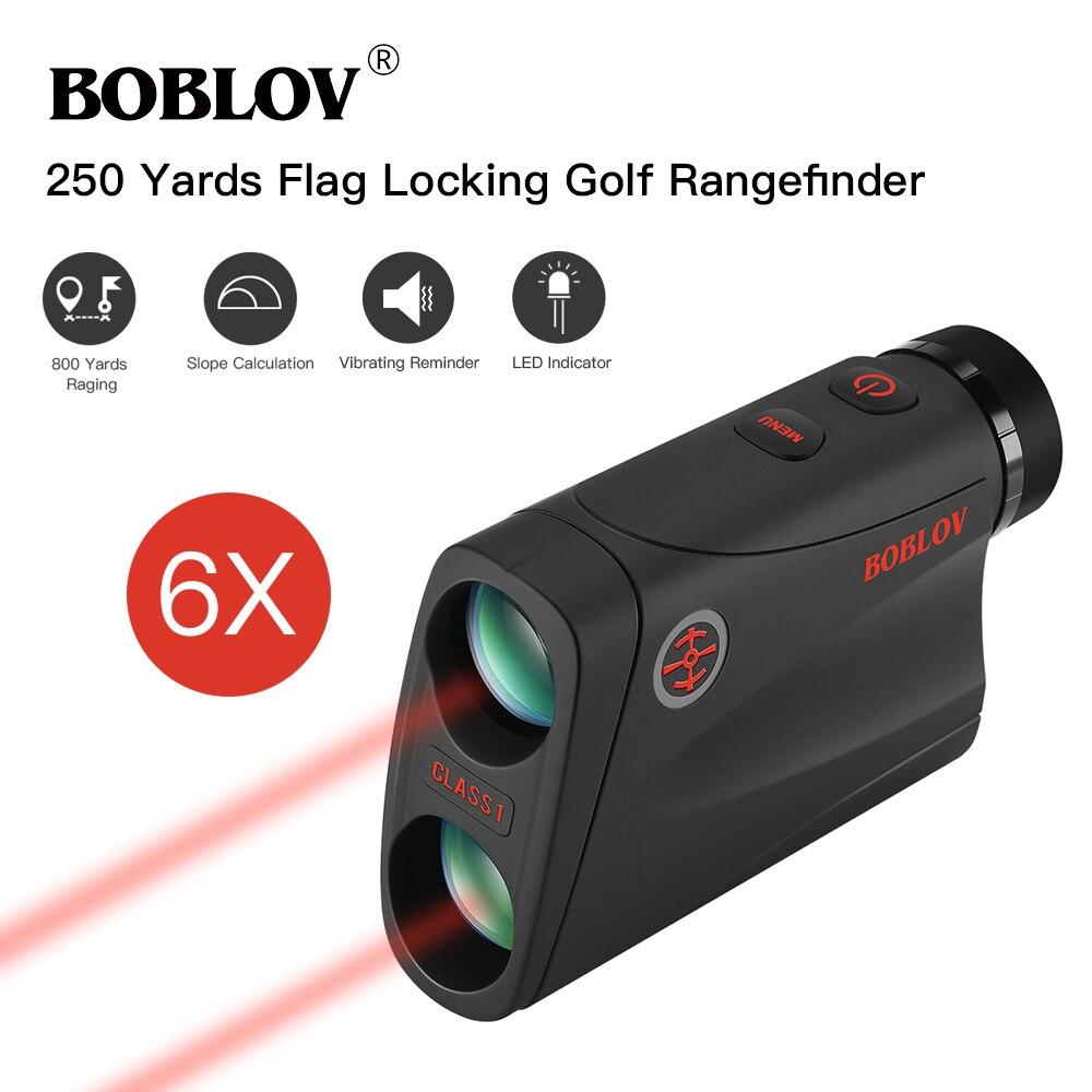 BOBLOV 6X entfernungsmesser Jagd 800m Teleskop Laser Abstand Meter Golf Digitale Monokulare Palette Finder Winkel messen werkzeug