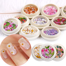 Nail art decorations Nail accessories Daisy flowers and leaves Mixed nail pastes Ultra thin nail veneer 3Dnail art 1box