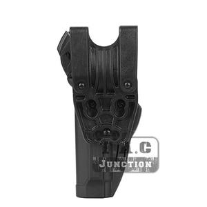 Image 5 - Tactical Pistol Holster Voor Beretta 92 96 M9 Serpa Niveau 3 Retentie Auto Lock Duty Rechterhand Taille Riem Airsoft pistol Holster