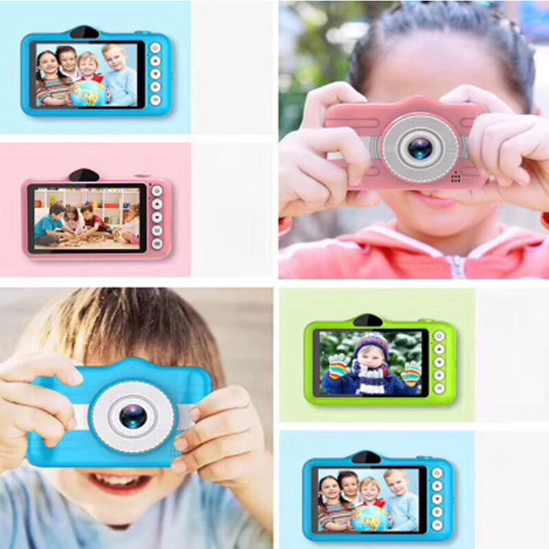 Mini Digital Kids Camera 3.5 Inch Cartoon Cute Camera Photo Children Camera With 600 MAh Polymer Lithium Battery Toys Gift