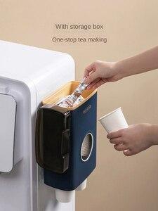 Image 2 - Xiaomi copo de papel descartável copo suporte rack não perfurado chá café recipiente para escritório restaurante máquina de café