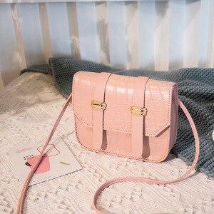 New Mini Square Bags for Women Ladies Shoulder Bag PU Leather Solid Color Buckle Belt Messenger Bag Small Square Handbags ladies