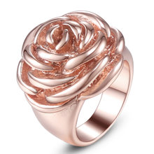 Классическое обручальное кольцо из нержавеющей стали розовое