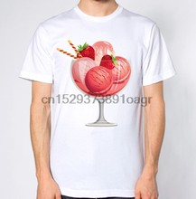 Pink Ice Cream T-Shirt(China)