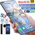 2020 Новый Mate40 RS 7,3 дюймов глобальная Версия 16GB 512GB смартфон мобильный телефон DVI 24 + 50 Мп 4G 5G сети 6800 мА/ч, GPS Wi-Fi, мобильный телефон