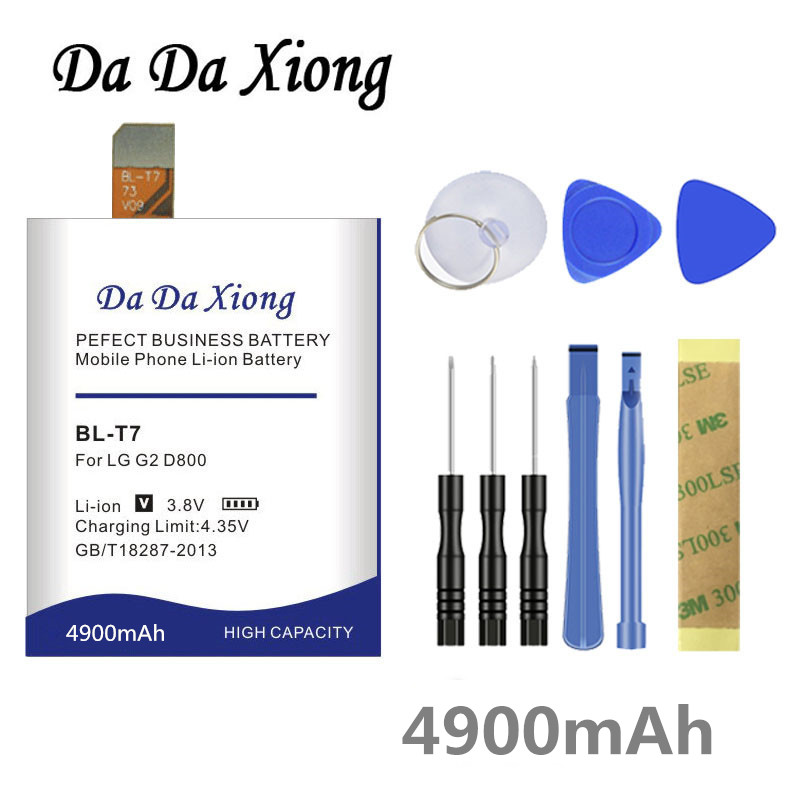Da Da Xiong 4900mAh <font><b>BL</b></font>-<font><b>T7</b></font> <font><b>BL</b></font> <font><b>T7</b></font> BLT7 Battery for <font><b>LG</b></font> Optimus G2 D800 D802 D801 L-01F LS980 P693 VS9801 VS980 LS980 image