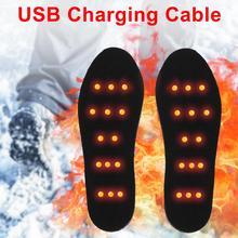 USB с подогревом стельки для обуви ноги согревающий коврик зимний Коврик Нагреватель для спорта на открытом воздухе