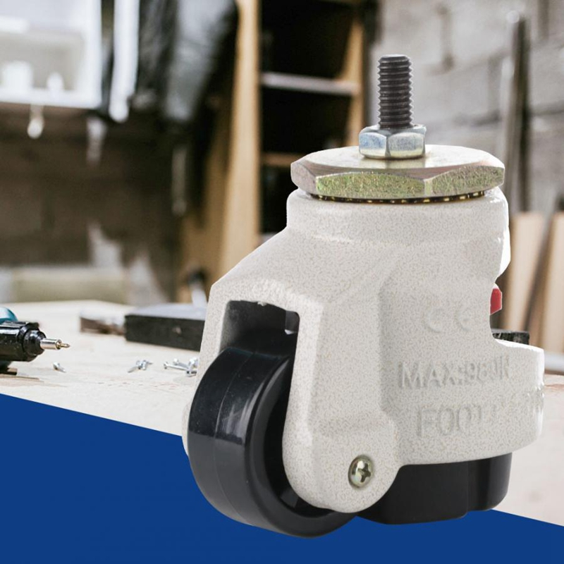 Wheel For Trolley 4Pcs Heavy Duty Level Adjustment Caster Threaded Stem Industrial Roller Wheel Caster Wheels Furniture Support