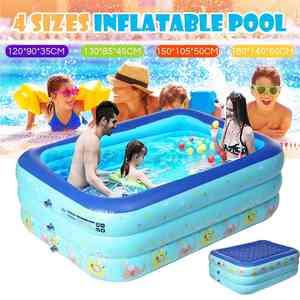 Inflatable Pool Paddling-Pool Bathing-Tub Square Baby Kids Home-Use Children 120-180cm