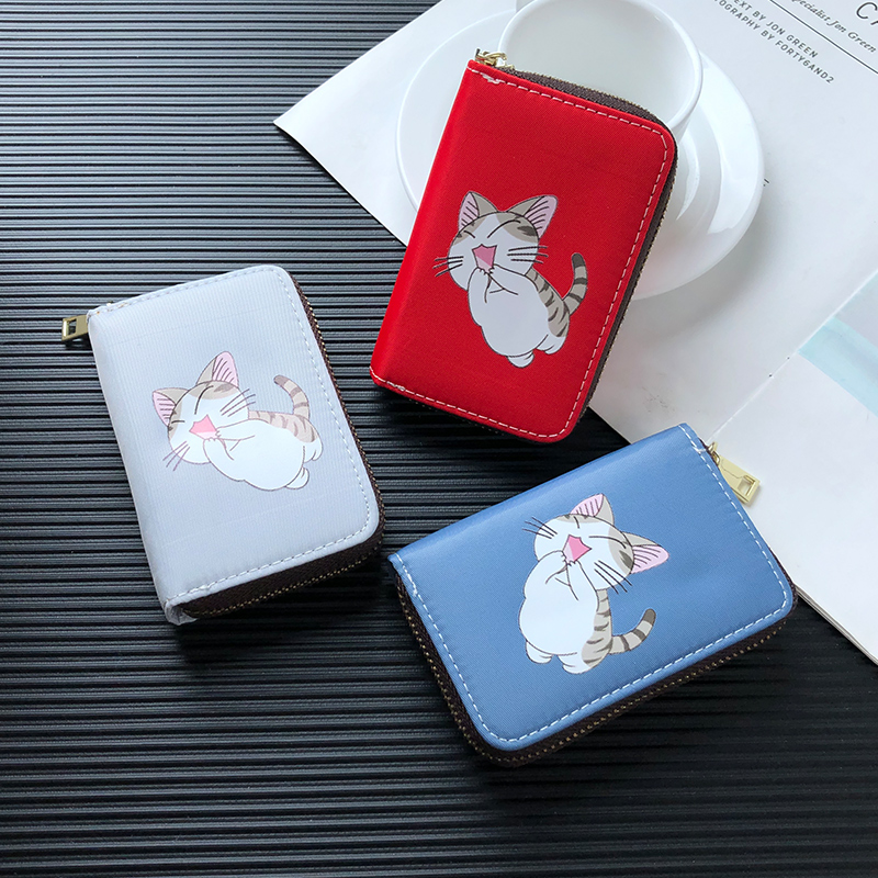 APP BLOG Brand Cute Cartoon Cat Travel Passport Cover ID Credit Card Bag Business Passport Card Holder Driver License Bags 2019 image