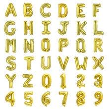 16/40 pouces or Rose A-Z lettre/0-9 numéro Ballon décorations de fête d'anniversaire or ballons de mariage Globos décors d'anniversaire