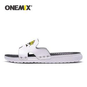 Image 2 - ONEMIX Summer Men Beach Sandals Casual sandals Men Or Women Slippers Indoor Outdoor Women Wading Flats Shoes Men 2019 New