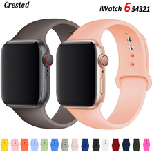 Silicone Strap For Apple Watch band 44mm 40mm 38mm 42mm Rubber watchband Sport bracelet