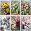 HUACAN Painting By Numbers Flowers Kits Drawing Canvas HandPainted Oil DIY Pictures By Numbers Home Decoration