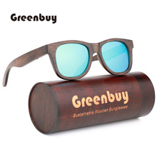 Mens Vintage Bamboo Polarized Sunglasses Classic Brand Coated Lens Driving Essential Men/Female