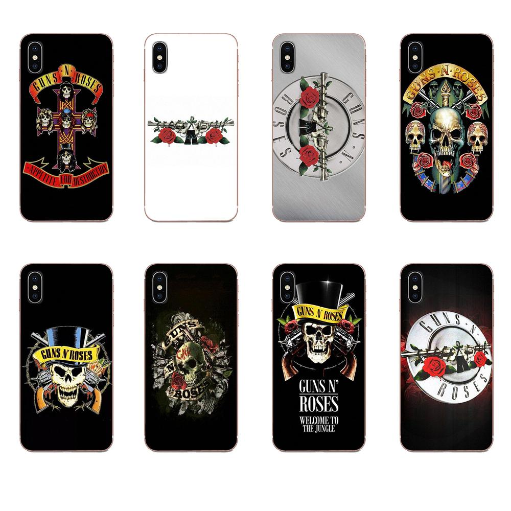 Guns N Roses Soft Silicone TPU Transparent Cases Capa Cover For Huawei Mate 9 10 20 P P8 P9 P10 P20 P30 P40 Lite Pro Smart 2017