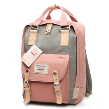 Japonês e coréia mochila feminina grande capacidade escola mochila lona para meninas moda do vintage sacos de viagem portátil