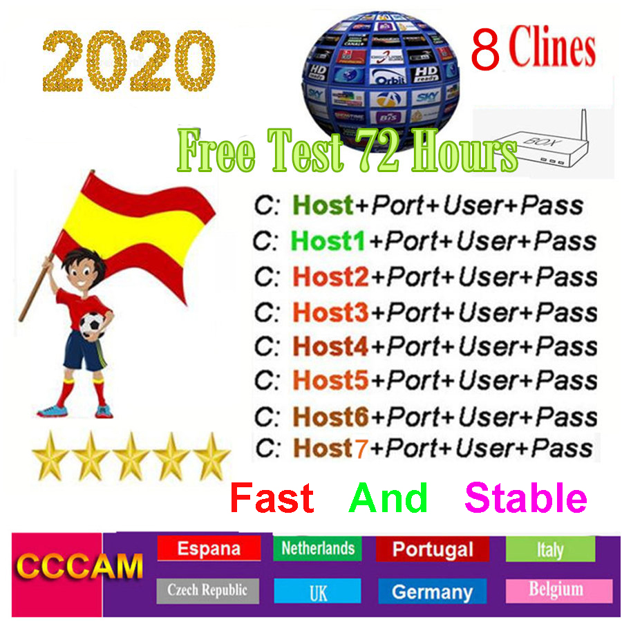 Cccam Europa Cline Server For 1 Year Spain Oscam Germany Poland Portugal Cape Verde DVB S2 Ccam Dazn Receptor Satelite Receivers