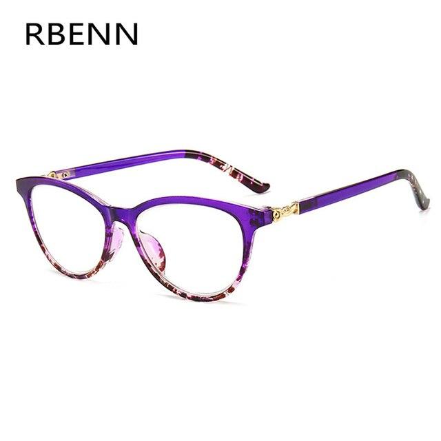 RBENN Cat Eye Reading Glasses Women Blue Light Blocking Presbyopia Eyeglasses for Female Anti Blue Rays Reading Glasses +1.75