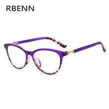 RBENN القط العين نظارات للقراءة النساء الضوء الأزرق حجب قصر النظر الشيخوخي نظارات للإناث مكافحة الأشعة الزرقاء نظارات للقراءة + 1.75