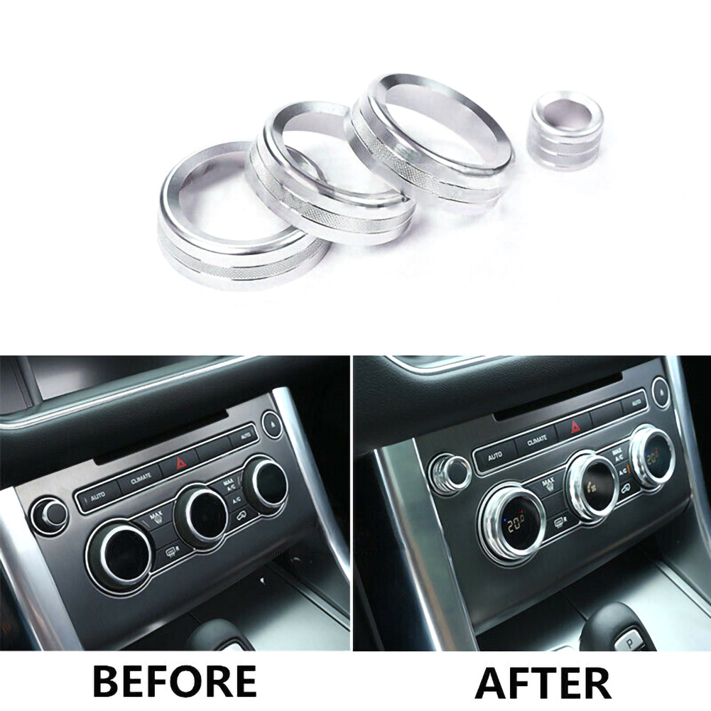 Car Inner Console Air Condition Heat Control Switch Knob Aluminum alloy Trim Cover For <font><b>Land</b></font> <font><b>Rover</b></font> Range <font><b>Rover</b></font> <font><b>L405</b></font> image
