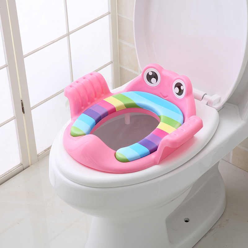 Outdoor Travel Infant Potty Cushion Children Toilet Seat Non-Slip Baby Kids Seat Potty Chair with Handle Toilet Accessories