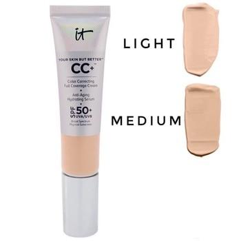 It Cosmetics Face Concealer CC+ Cream SPF50 Full Cover Medium Light Base Liquid Foundation Makeup Whitening Your Skin But Better 1