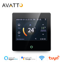 AVATTO-termostato inteligente con WiFi, controlador de temperatura de calefacción con pantalla táctil LED Celsius/fahrenheed, funciona con Alexa y Google Home