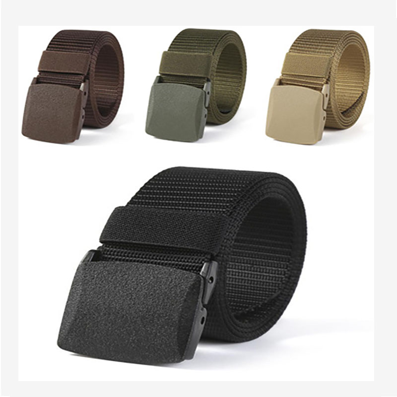 2021 New Automatic Buckle Nylon Belt Men's Army Tactical Belt Men's Military Outdoor Belt Canvas Belt High Quality Jeans Belt