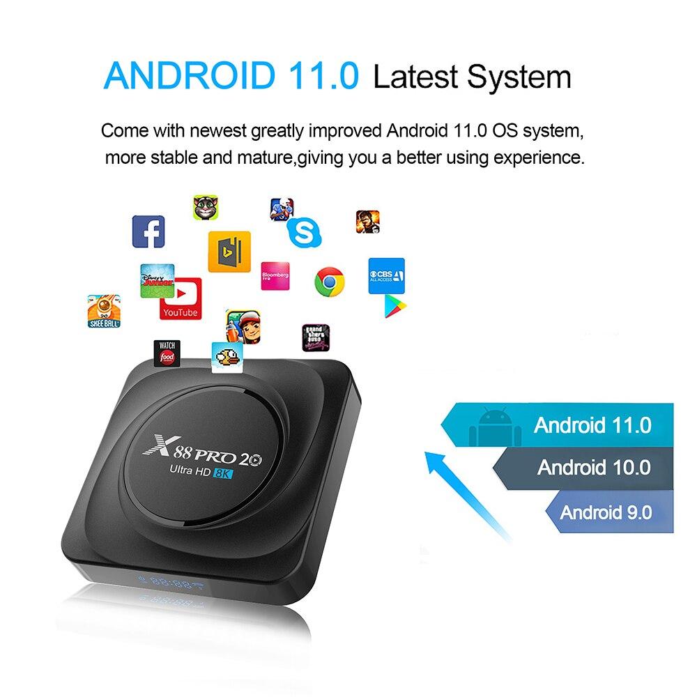 X88 pro 20 ТВ приставка android 11 8 ГБ 128 Гб 8K 2