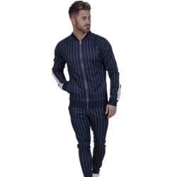 Spring New style casual mens suits Classic stripes zipper coat+Fashion Small leg trouser Contracted  atmosphere street suits