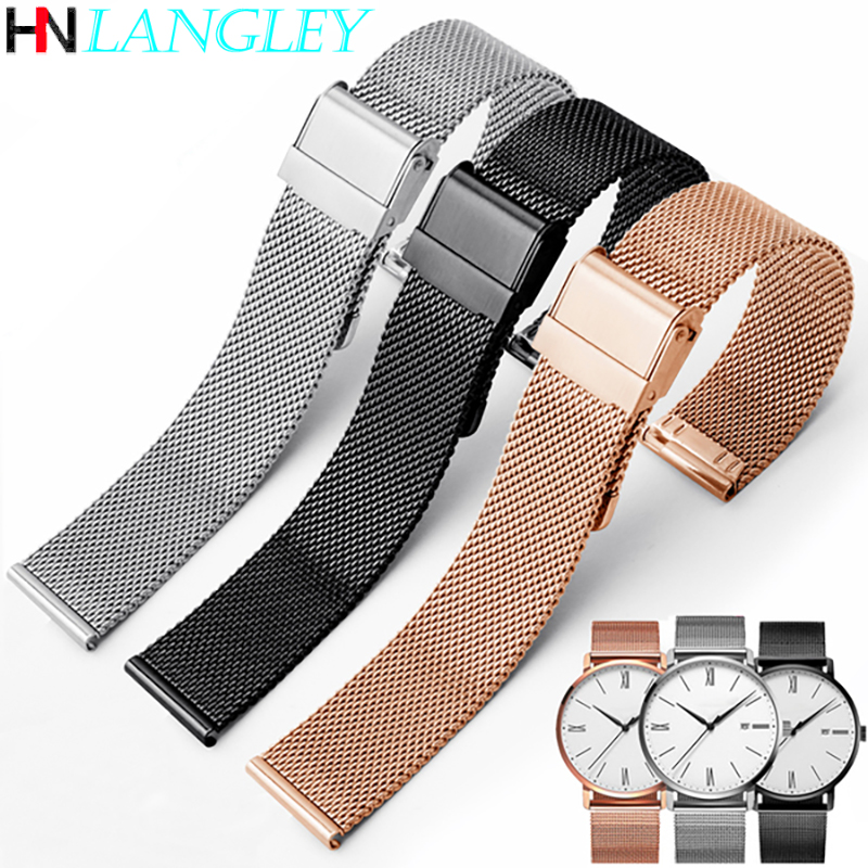 Milanese Loop Watch Strap 17/18/19/20 Mm Watch Band For DW For Daniel Wellington Stainless Steel Band 12/13/14/16/22 Mm Width