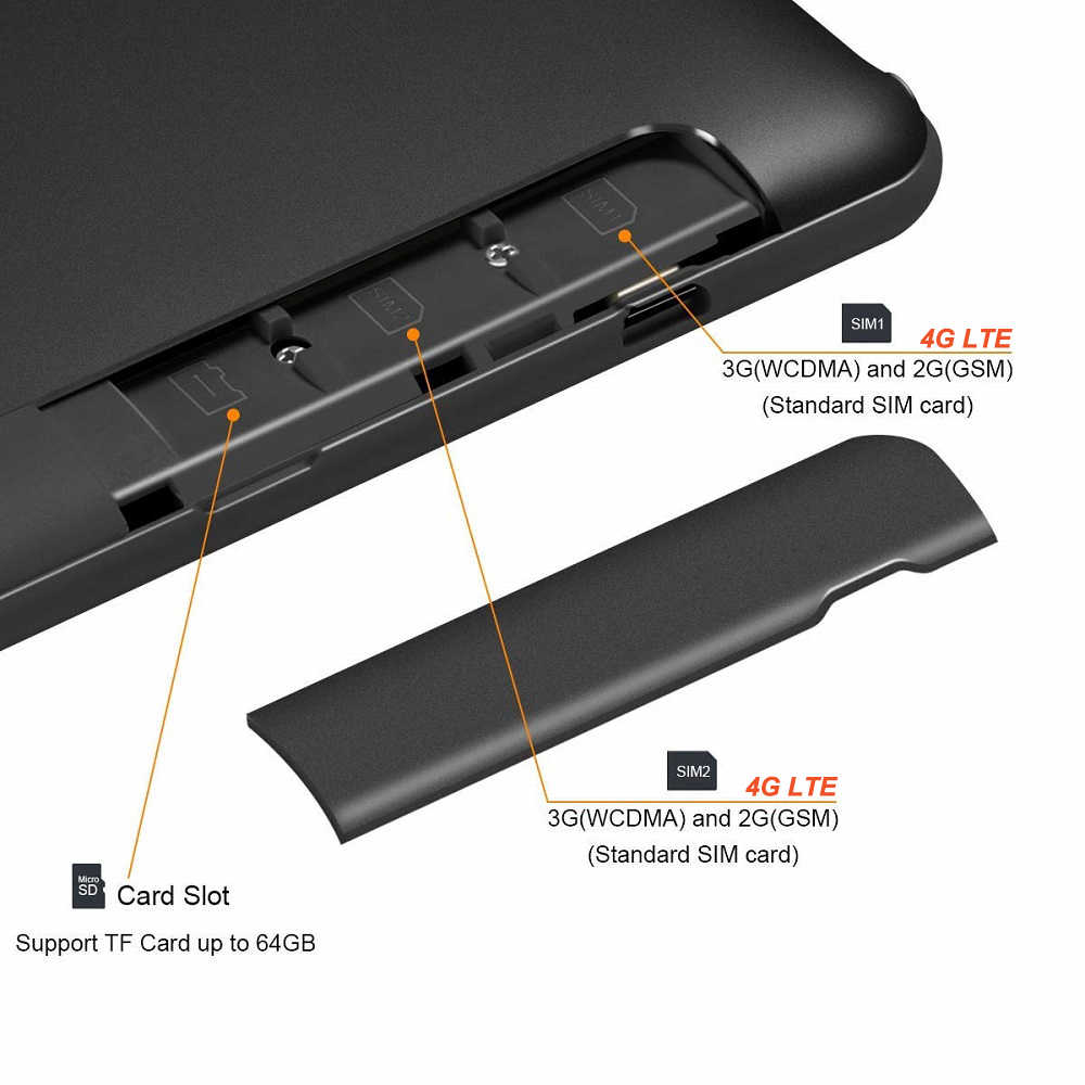 Neue Version Android 9,0 OS 10 Zoll Tablet Octa Core Dual SIM Karte Anruf Typ-C 5g wifi GPS IPS 3GB RAM 32 GB ROM + Geschenke