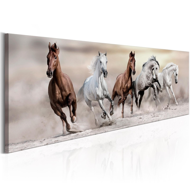 Modern Canvas Painting Running Horse Print Animal Poster Wall Art Wall Pictures For Living Room Home Office Decor