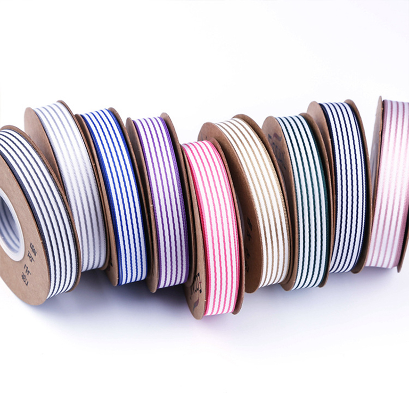 10yards/lot 16mm Pinstripe Ribbon for Hairbow Clothing Shoes Hats DIY Accessories Christmas Party Decor Gift Wrapping Ribbons
