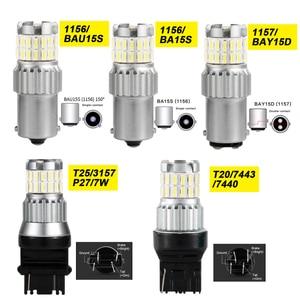 Image 5 - 1Pc iSincer 1500LM P21W Canbus Led lampen 1156 1157 BA15S BAU15S LED T20 T25 Auto Blinker Licht Reserve lampen Auto Bremslicht