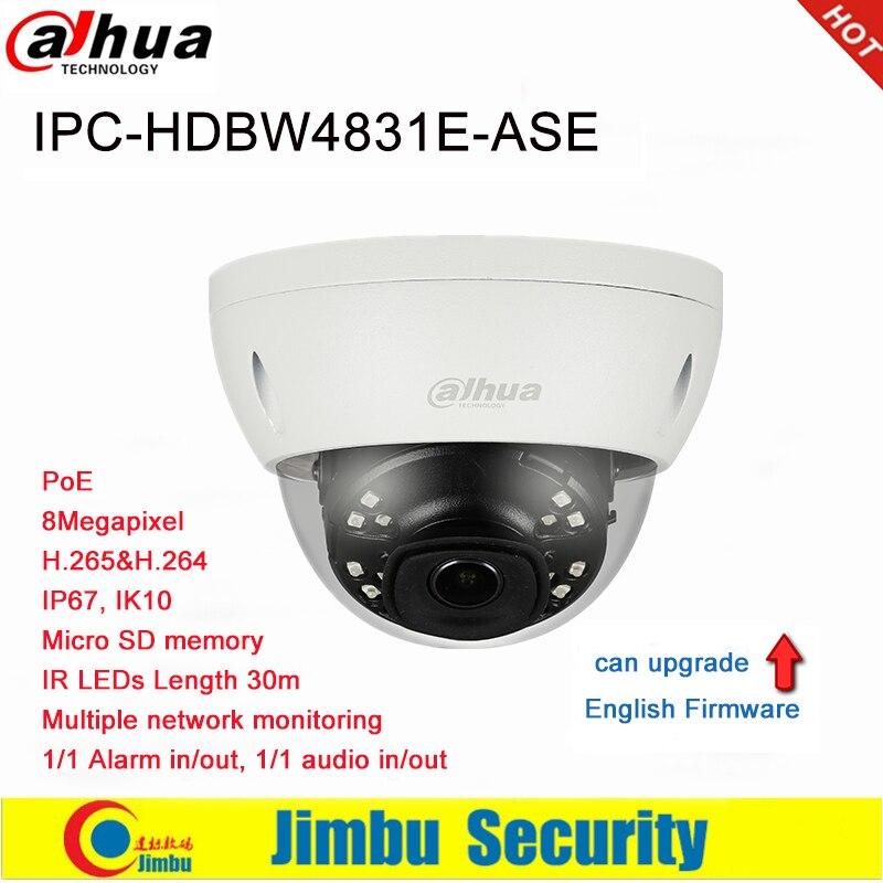 Dahua caméra IP 8MP IPC HDBW4831E ASE POE H.265/H264 IR30M Micro SD mémoire caméra de détection intelligente peut être amélioré Mini dôme-in Caméras de surveillance from Sécurité et Protection on AliExpress - 11.11_Double 11_Singles' Day 1