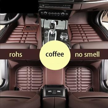 Car styling leather car floor mat carpet rug for volkswagen vw passat b7 2010 2011 2012 2013 2014 2015 accessories фото