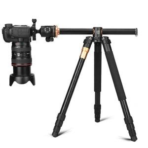 Image 4 - QZSD Q999H alüminyum alaşımlı kamera tripodu Video Monopod ile profesyonel uzatılabilir Tripod hızlı bırakma plakası ve topu kafa