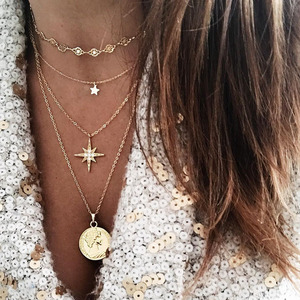Multilayer Women Necklaces Sta