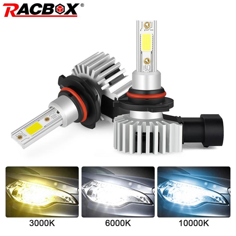 RACBOX 2шт H4 H1 H3 H7 H11 H8 H9 H27 880 881 9005 HB3 9006 HB4 светодиодные лампы фар 72 Вт 10000LM автомобильный Стайлинг 3000K 6000K 10000K