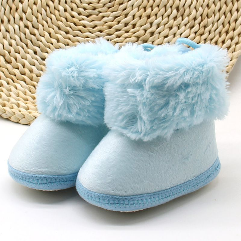 New Winter Newborn Infant Toddler Girls Boys Baby Kids First Walkers Shoes Boots Soft Soled Warm Crib Shoes