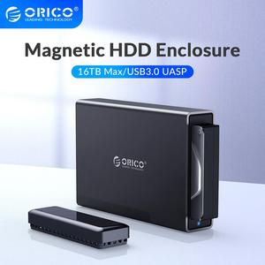 ORICO NS Series 3.5'' USB3.0 HDD Docking Station Support 16TB HDD Enclosure with UASP 24W Power Adapter Hard Drive Box